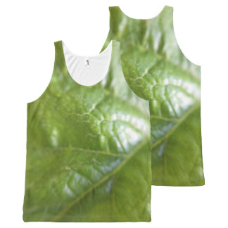 Leaf Texture All-Over-Print Tank Top