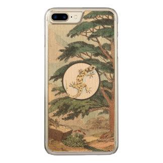 Leaf-Toed Gecko In Natural Habitat Illustration Carved iPhone 7 Plus Case