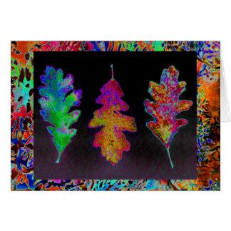 Leaf Trio Notecard