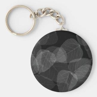 Leaf X-Ray Basic Round Button Keychain