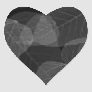 Leaf X-Ray Heart Sticker