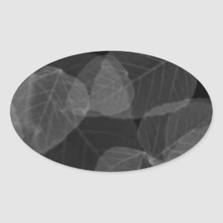 Leaf X-Ray Oval Sticker
