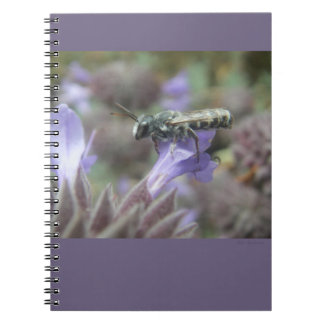 Leafcutter Bee Spiral Notebook