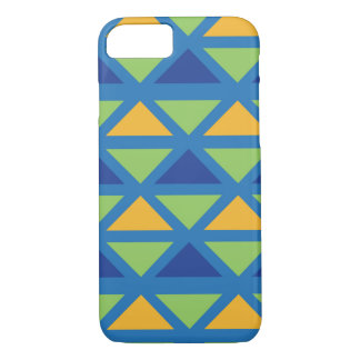 Leafgreen, Blue & Canary Aztec Pattern Case-Mate iPhone Case