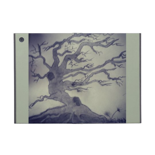 Leafless fall tree iPad mini case