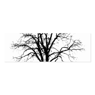 Leafless Tree In Winter Silhouette Mini Business Card
