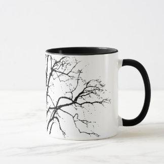 Leafless Tree In Winter Silhouette Mug