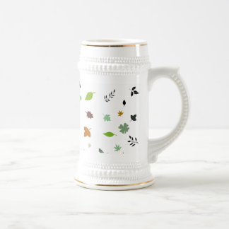 Leafs and Colorful 18 Oz Beer Stein