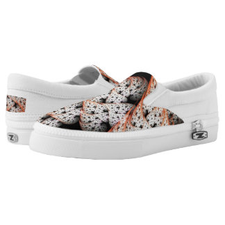 Leafs and Dots Slip-On Sneakers