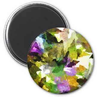Leafs natural natural  Green Trees Earth Beautiful 2 Inch Round Magnet