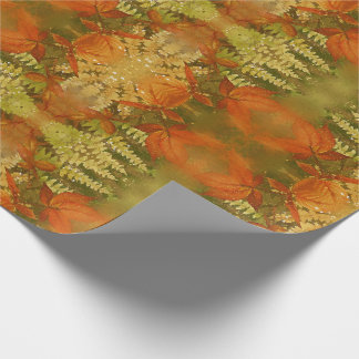 Leafy Autumn Abstract Watercolor for Fall Wrapping Paper