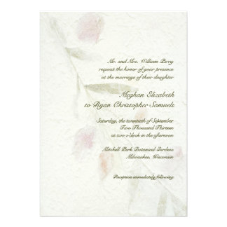 Leafy Botanical Natural Garden Wedding Personalized Invites