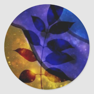Leafy Classic Round Sticker