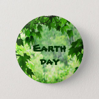 Leafy Earth Day 2 Inch Round Button