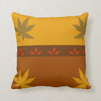 Leafy Fall Throw Pillow