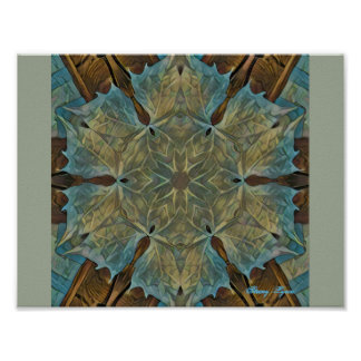 Leafy Gal Kaleidoscope by Stacey Lynn Poster