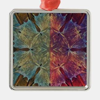 Leafy Gal Metal Ornament