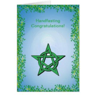 Leafy Glade Pagan Handfasting Congratulations Card
