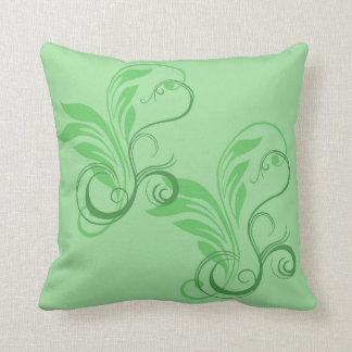 Leafy Glade Throw Pillow