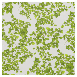 Leafy Green Leaves Fabric