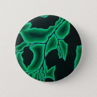 Leafy Green Negative Space Pattern 2 Inch Round Button