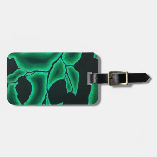 Leafy Green Negative Space Pattern Luggage Tag