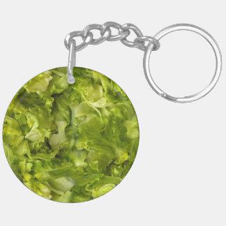 Leafy Green Salad Lettuce Keychain