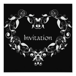 Leafy Heart Invitation
