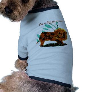 Leafy Lion Wild Animal illustration Doggie T Shirt