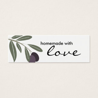 leafy olives branch from my kitchen gift tags, ... mini business card