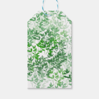 Leafy Pattern Design Gift Tags