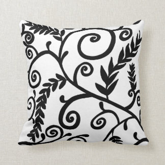 Leafy Scroll Throw Pillow