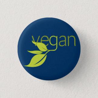Leafy Vegan 1 Inch Round Button