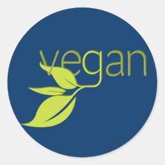 Leafy Vegan Classic Round Sticker