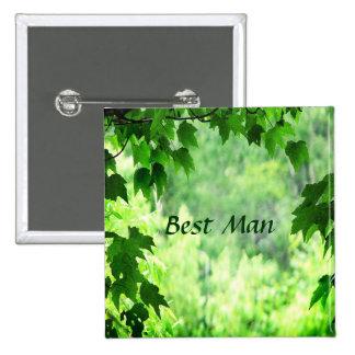 Leafy Wedding Best Man Pin