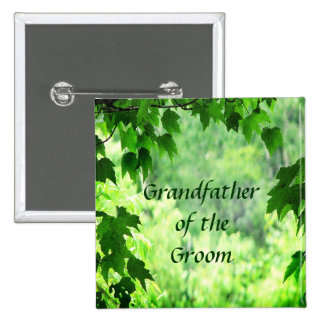 Leafy Wedding Grandfather of the Groom Pin