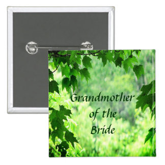 Leafy Wedding Grandmother of the Bride Pin