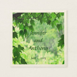 Leafy Wedding Paper Napkins