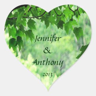 Leafy Wedding Stickers