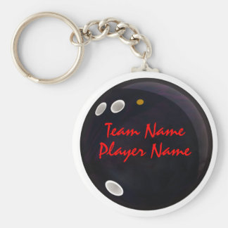 League Bowlers Basic Round Button Keychain