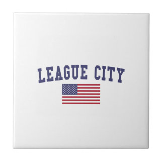 League City US Flag Tile