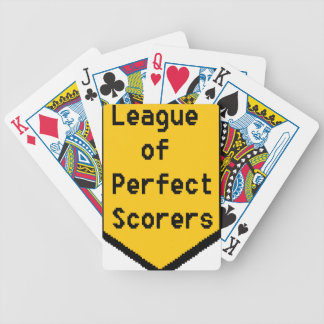 League of Perfect Scorers (LPS) Bicycle Playing Cards