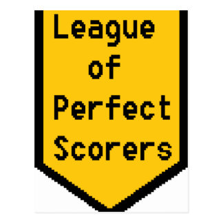 League of Perfect Scorers (LPS) Postcard