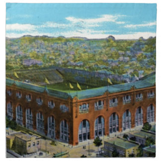 League Park Baseball Stadium Napkin