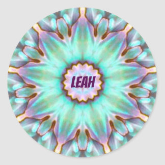 LEAH ~ Personalised Paua Shell Sticker ~