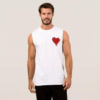 Leah. Red heart wax seal with name Leah Sleeveless Shirt