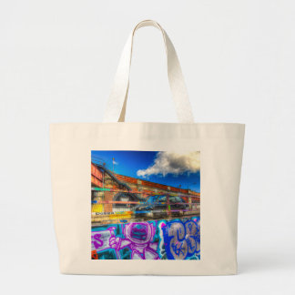 Leake Street and London Taxi Large Tote Bag