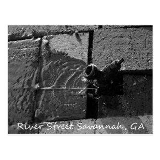 LEAKY SPIGOT RIVER STREET SAVANNAH GA POSTCARD