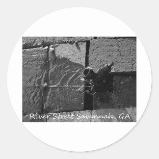 LEAKY SPIGOT RIVER STREET SAVANNAH GA ROUND STICKER