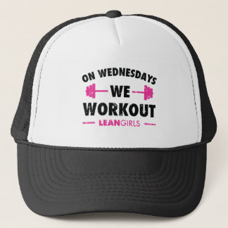 Lean Girls On Wednesdays We Workout Trucker Hat